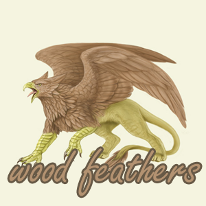 Wood Feathers Family Crest