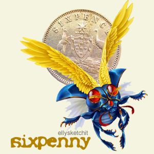 Sixpenny Family Crest