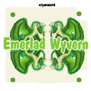 Emerlad wyvern Family Crest