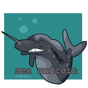 Sea Unicorn Family Crest